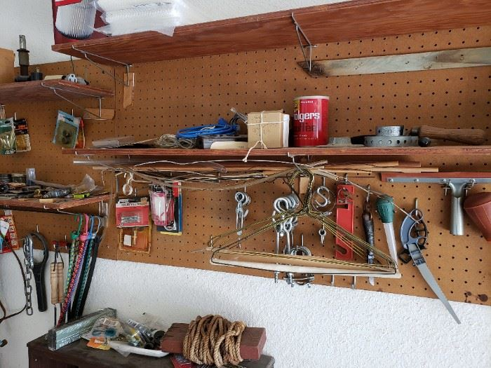 Garage items and tools