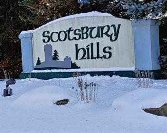 Scotsbury Hills sign