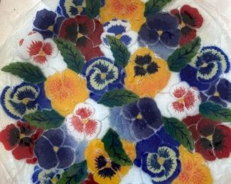 PEGGY KARR  GLASS-PANSY
