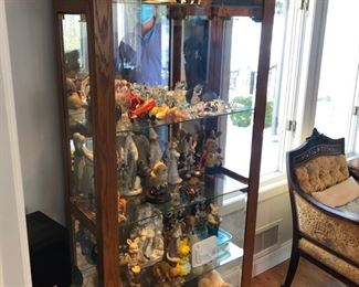 Lighted display cabinet & collectibles