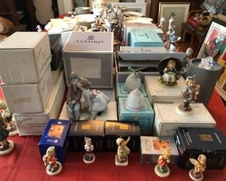 Lladro & Hummels with boxes