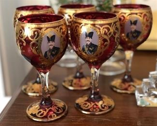 Antique Russian wine glasses
