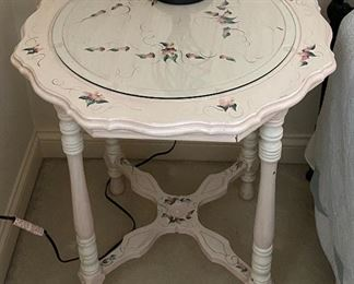 Painted side table (25Wx27.5H)