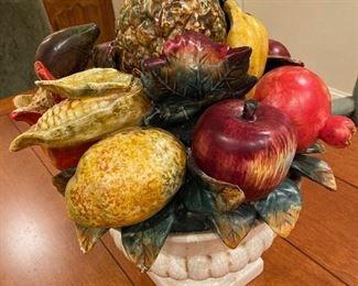 Ceramic fruit centerpiece