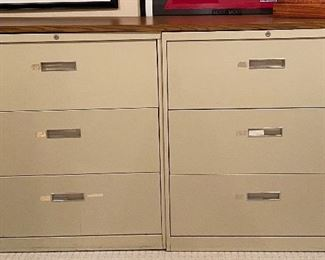steelcase file cabinets (x3)
