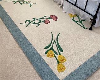 """floral rug 8' x 8'6"""""""