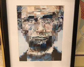 abstract Lincoln print