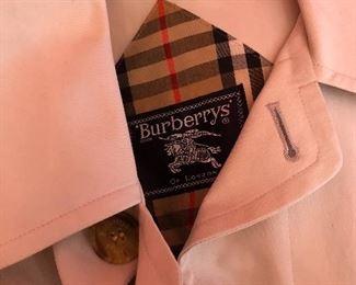 vintage men's Burberry raincoat