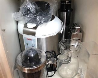 rice cooker / food steamer (we have 2 of these), juicer, etc