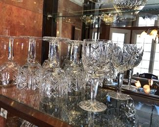 """Waterford water goblets 7"""" (11, + 1 with broken foot) Glengarriff"""