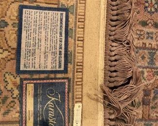 "Karastan Bakhtiara wool rug, pastels 5'9"" x 9'"