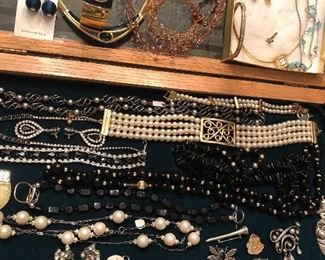 Vintage YSL necklace & earrings, Napier, Lucy Isaacs, Swarovski & more