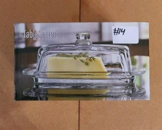 #14 - Table Setter Glass Butter Dish ($5)