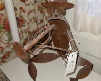 #1 - Metal Frog Sculpture ($30)