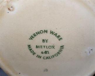 Vernon ware metlox