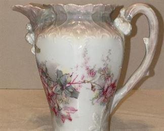 Antique German porcelain teapot no lid would make a gorgeous vase