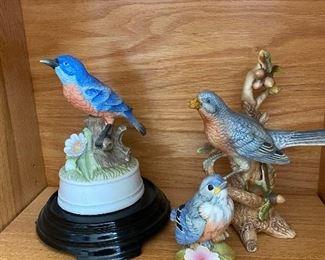 Porcelain bird collections