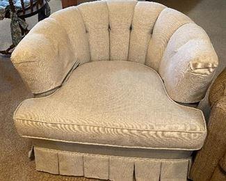 Elegant deco upholstered chair