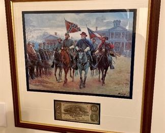 """Rare Limited Edition Civil War Print """"Legends In Gray"""" by Mort Kunstler Künstler"""