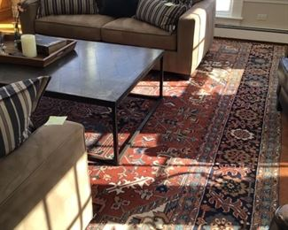 Extra large hand knotted wool rug $2100 11.5 x18'