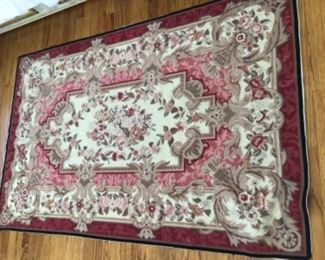 Needle point rug $290