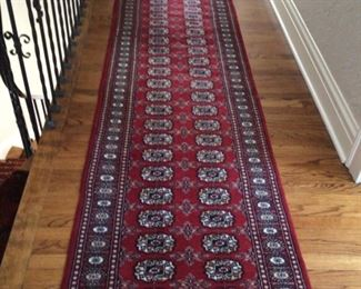 $625. Hand knotted wool runner 12'x 31""
