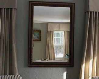 Gorgeous beveled mirror $90. 48x34