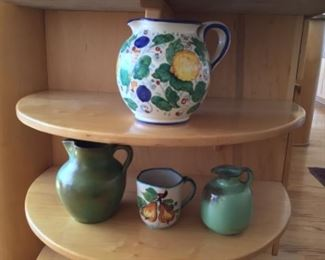 Italian and French pottery $40 large $30 (2 small pieces)
