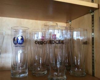 Okocim beer glasses $10 each.