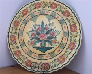 Extra large hand painted pottery