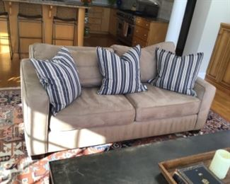 1 Pottery Barn down blend performance suede couch. purchased for $2400 each.                                Selling for $600 each.