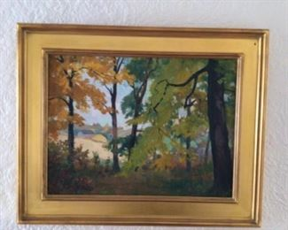 Original oil painting Charles zollars 34x24.  $200
