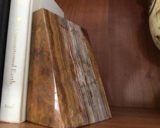 Large marble book end $50