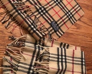 His and hers Burberry scarves $45 each
