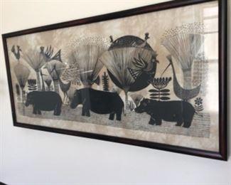 Batik beautiful artwork from Africa $145