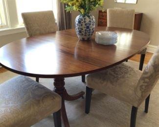 Teak midcentury table 2leaves $750
