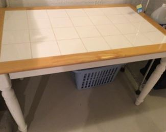 $45 tile and oak table