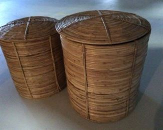2 large bamboo containers set for $50