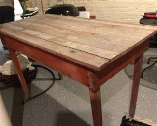 Antique potting bench $100