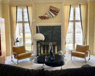 See StubbsEstates.com to come in person or to shop this sale online. Milo Baughman for Thayer Coggin. Curtis Jere. Guzzini Lamp