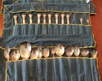 36 pieces of silver flatware