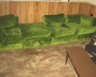 Shows Ottoman Section, Can Rearrange to Fit & Style a Room, Pit Sofa