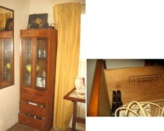 Pair Burlington brand Lighted Display Cabinets