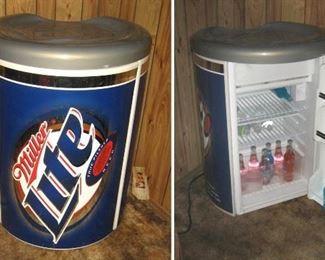 Miller Lite Advertising Mini Refrigerator