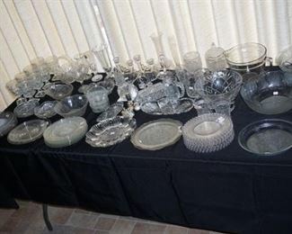 Crystal stemware, serving pcs