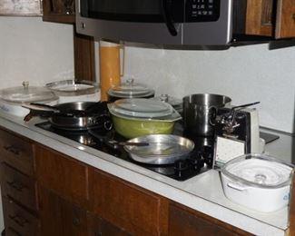 Corning, Pyrex, SS pans