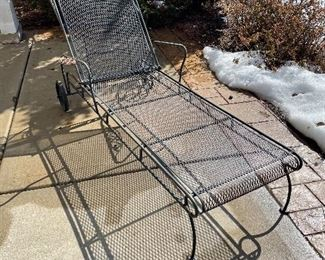Pair of metal chaise lounges, was $225 each, NOW $145 each