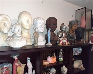 Not sure who most of these busts are..Tennyson and Kennedy and friends