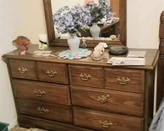 Dresser with mirror and lots of storage
