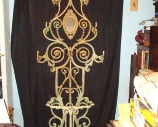 Ornate Cast Iron Hall Tree/ Umbrella Stand